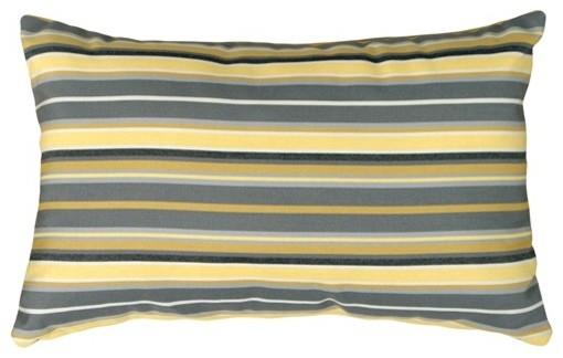 Pillow Decor - Sunbrella Foster Metallic 12 x 20 Outdoor Pillow contemporary-outdoor-pillows