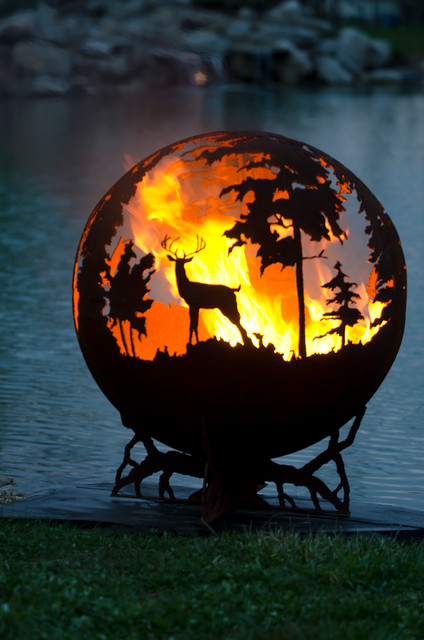 Up North Gas Firepit eclectic-fire-pits