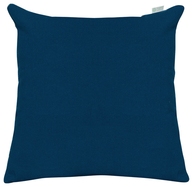 Outdoor Navy Blue Solid Large Pillow - Contemporary - Outdoor Cushions And Pillows - by Majestic ...