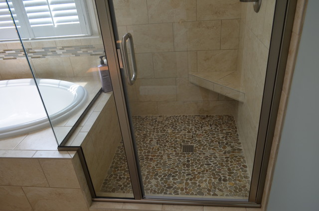 Cary Nc Bathroom Remodel Transitional