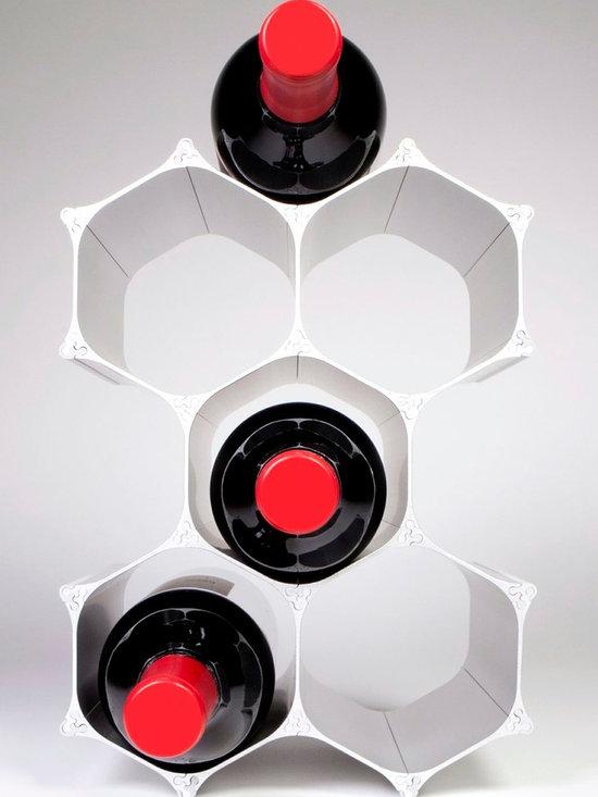 Silver WineHive 6-Bottle Modular Wine Rack -