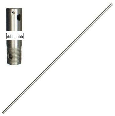 TroposAir 72 in. Extension Downrod Satin Steel 416 contemporary-ceiling-fans