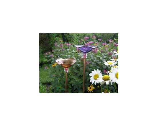 Butterfly Feeder - Handblown Glass -