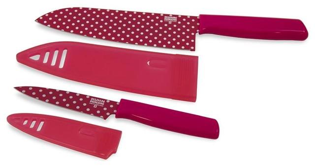 """Kuhn Rikon Chef's 6.5"""" Knife and Paring 4"""" Knife Set modern-knife-sets"""