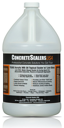 TS202 Acrylic WB-30 Topical Sealer w/ Low Gloss (1 gal.) modern-home-improvement