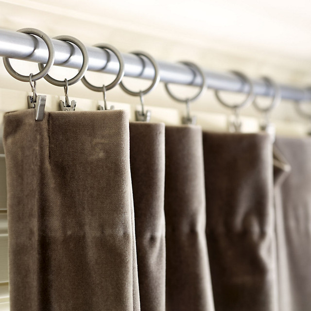 Set Of 10 Iron Clips Traditional Curtains By Ballard