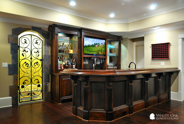 Manor Golf And Country Club North Basement Remodel Traditional Basement Atlanta By White
