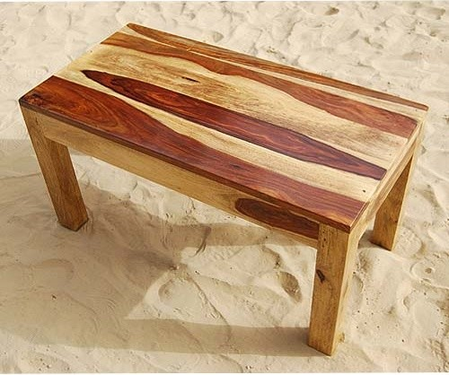 Rustic Solid Wood Handmade Sofa Cocktail Coffee Table