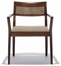 Knoll | Krusin Armchair with Upholstered Back Inset modern-armchairs-and-accent-chairs