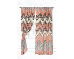 Scattered Chevrons Curtain eclectic curtains