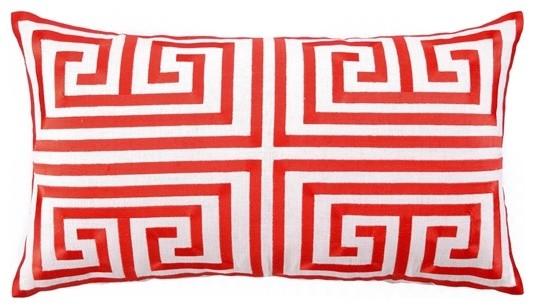 Trina Turk Embroidered Linen Pillow mediterranean-decorative-pillows