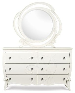 Adelle Wood 6 Drawer Dresser - Linen modern-dressers-chests-and-bedroom-armoires