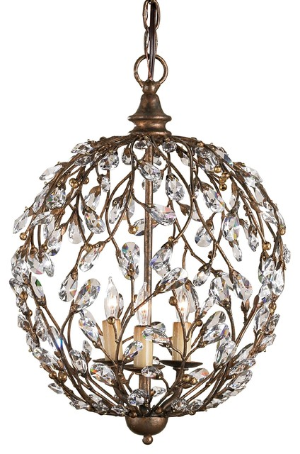 Currey & Co Crystal Bud Sphere Chandelier traditional-chandeliers