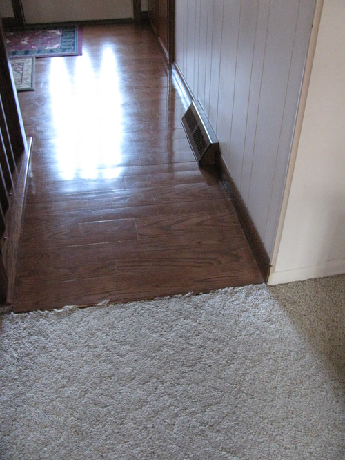 Transitioning from real wood floor and pergo that looks for Hardwood floors in bedrooms