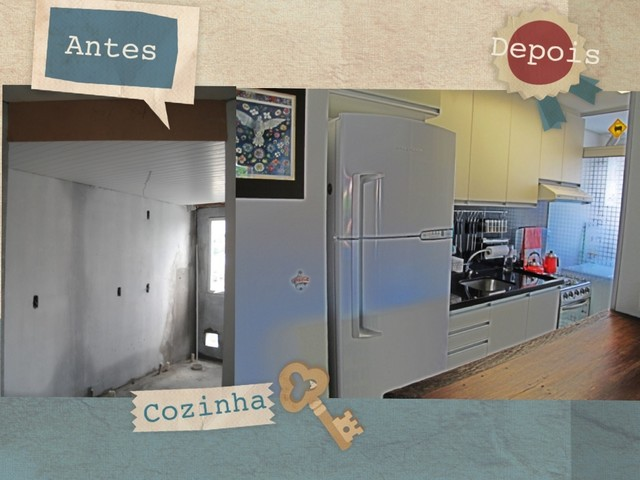 Before and after small apartament eclectic-kitchen