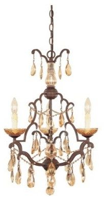 Designers Fountain 98383 Bollo 3 Light Chandelier in Venetian Bronze Finish modern-chandeliers