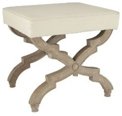 X-Base Stool - Brown | Stools & Ottomans | Wisteria  bedroom benches