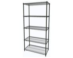 Metro Shelving Unit - 48x18x74 Black industrial-garage-and-tool-storage