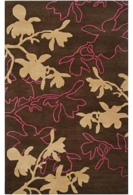 Area Rug: Jef Designs Dark Mushroom 8' x 11' contemporary-rugs