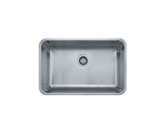"Franke - Franke GDX11028 Stainless Steel Grande Grande 19-1/8"" x 30-1/8"" Single - Grande 30-1/8"" Undermount Single Basin Stainless Steel Kitchen SinkThe Grande Collection from Franke brings you the simplicity of shape, the functionality of a flat surface, and the convenience of wide corners for easy cleaning. With these basic ideas in mind we believe the Grande Collection makes for the perfect kitchen sink.Franke GDX11028 Features:Stainless steel construction ensures durability and reliabilitySingle basinRear drain location optimizes usable room in sink basinMinimum Cabinet Size: 30""Extra deep basin supplies maximum workspaceFranke GDX11028 Specifications:Material: Stainless SteelOverall Size: 30-1/8"" x 19-1/8"" x 9""Installation Type: UndermountSink Shape: RectangularBasin Depth: 9""Basin Length: 17""Basin Width: 28""Drain Location: RearGauge: 18Drain Connection: 3-1/2"""