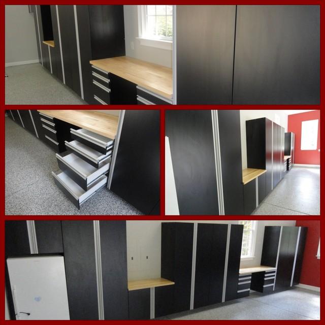 Black Cabinets in Garage - Modern - raleigh - by Carolina Custom ...