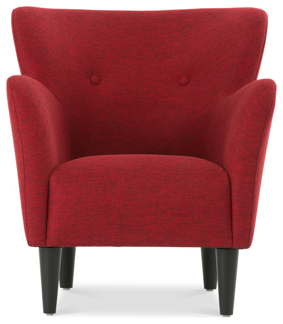 Happy Picasso Red Armchair Contemporary Armchairs And