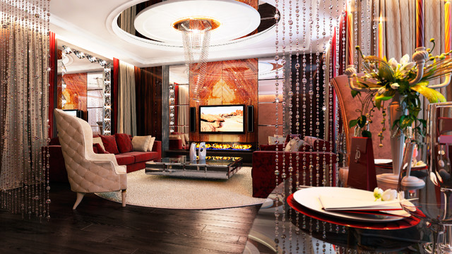 """APARTMENTS, LCD """"Dominion"""" eclectic-living-room"""