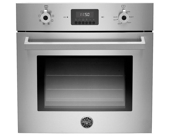 """Bertazzoni Pro 24"""" Single Electric Wall Oven, Stainless Steel 