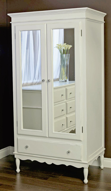 Celine Armoire with Mirrored Doors - Modern - Armoires And Wardrobes - by Rosenberry Rooms