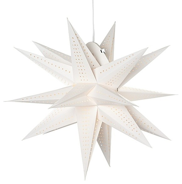 Paper Pendant Moravian Star Modern Holiday