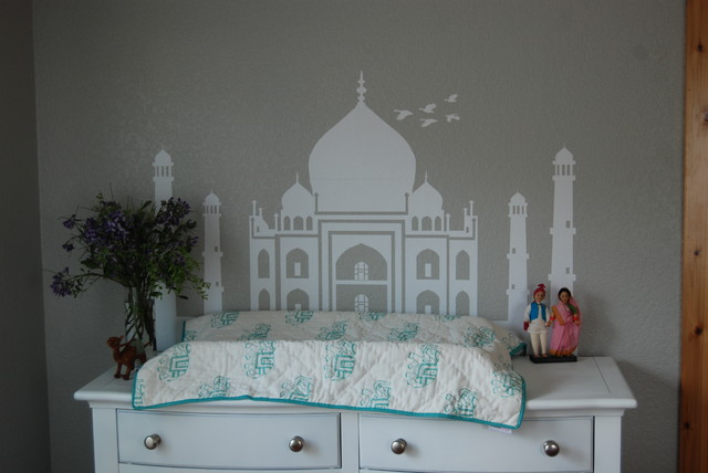 Unisex world explorer themed nursery eclectic-nursery