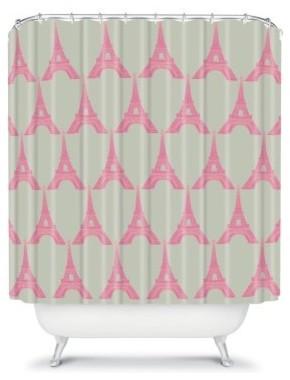 DENY Designs Bianca Green Oui Oui Shower Curtain modern-shower-curtains