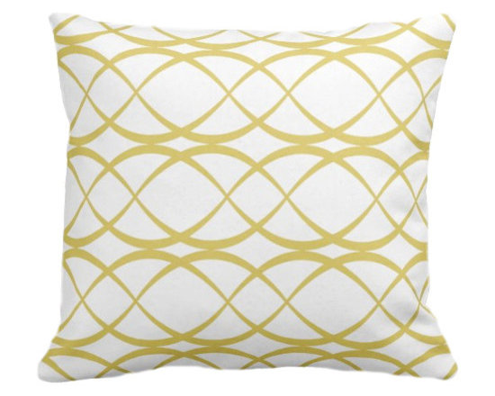 PURE Inspired Design - Dune Organic Pillow Cover, Bright Yellow/Natural, 12x18 - Collection:  PURE Beach