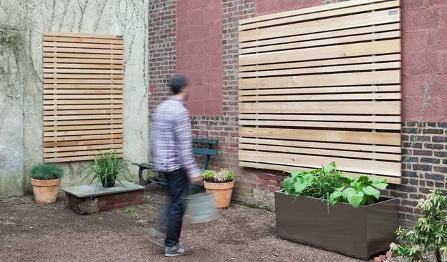 Buttonwood Slat Wall Rain Screen Modern Outdoor