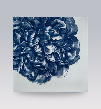 Blue Peony Dishware contemporary-serveware