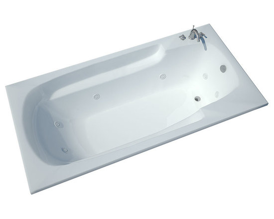 Spa World Corp - Atlantis Tubs 3672EWL Eros 36x72x23 Inch Rectangular Whirlpool Jetted Bathtub - The Eros collection features luxuriously designed corner bathtubs, with a traditional oval interior. Molded floor pattern prevents bathers from falling, while adding a piquant flavor to the bathtub's design. Lightweight construction makes installation quick and easy. Interior armrests provide luxury and comfort. Whirlpool tubs are designed to provide a more vigorous and comforting massage with jets positioned to direct warm water to areas like the lower and upper back, shoulders and legs. The Atlantis whirlpool hydro therapy configuration consists of symmetrically-allocated, 360� direction-adjustable water jets. System control is located on the entrance side panel, allowing bathers to turn water streams on and off. Drop-in tubs have a finished rim designed to drop into a deck or custom surround. They can be installed in a variety of ways like corners, peninsulas, islands, recesses or sunk into the floor. A drop in bath is supported from below and has a self rimming edge that is designed to sit over a frame topped with a tile or other water resistant material. The trim for the air or water jets is featured in white to color match the tub.