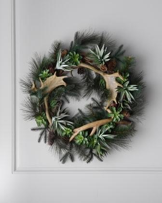 Antler wreath for Antler christmas wreath