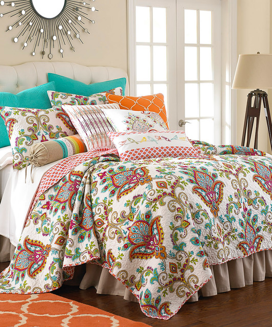 White Amp Red Bright Sanibell Quilt Set Modern Quilts