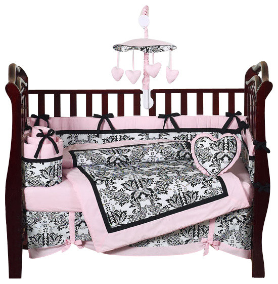 Sophia 9 Piece Baby Bedding Set Contemporary Kids Bedding By Tiny Totties