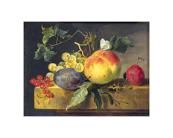 Still Life with Fruit and Butterfly, c.1735 | Huysum | Canvas Print - Condition: Canvas Print - Unframed