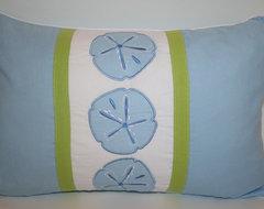 Sand Dollar Accent Pillow tropical-bed-pillows