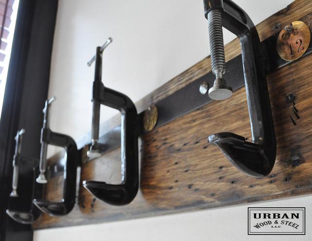 C Clamp Coat Rack Industrial Wall Hooks new york