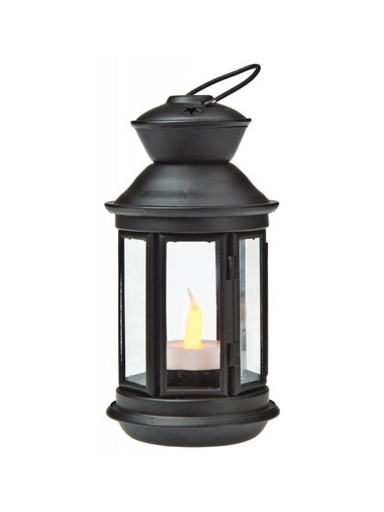 Black Hurricane Candle Lanterns -