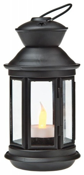 Black Hurricane Candle Lanterns traditional outdoor decor