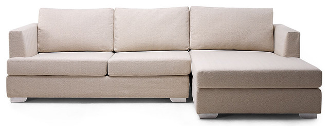 Westminster Beige Sectional Couch (L) modern-sectional-sofas