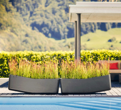 Balance Planter - Large planting area provide room for creative ideas contemporary-outdoor-pots-and-planters