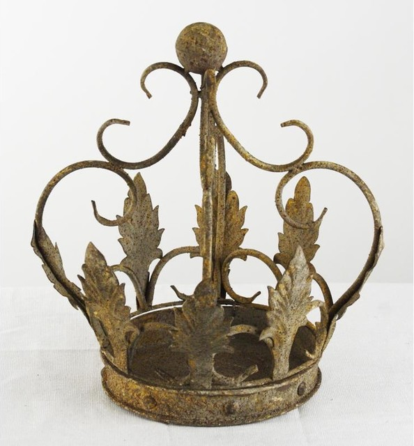Zentique Rustique Metal Crown Lantern traditional-candles-and-candleholders