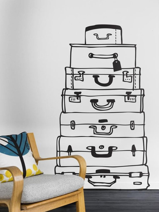 Ferm Living Suitcases WallSticker - With Ferm Living WallStickers it is easy to create a new look and change the style in a room in a matter of minutes. By using WallStickers, your kids can also help decorate their own room in an array of colors.