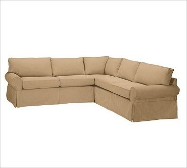 Pb basic 2 piece l shaped sectional slipcover textured for 2 piece sectional sofa slipcover