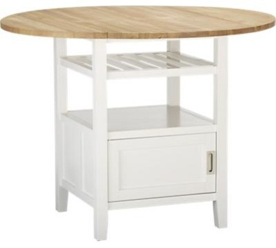 Belmont White High Dining Table contemporary-dining-tables